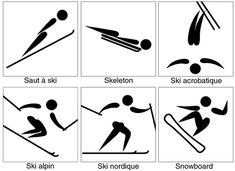 Héraldie: Symboles et pictogrammes 3 : les sports olympiques d'hiver #noel #Navidad