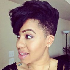 Straight Tapered Cut on 4C Natural Hair