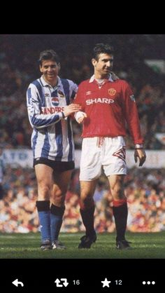 Chris Waddle and Eric Cantona.