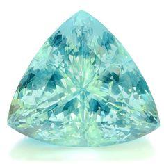 Natural Aquamarine Trillion, 56.100 CTS