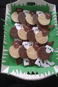 Rijstwafel-schaapjes (made by Marcia R)