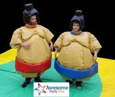 Sumo suits are fun way to entertain party guests or celebrate any event. These are the closest thing to get to how the real sumos wrestle