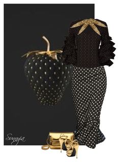 """""""Black Strawberry"""" by sunnyia ❤ liked on Polyvore featuring Caroline Constas, Hermès, Marni and Yves Saint Laurent"""