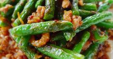 This is my all time favourite green beans dish and it is one of the dishes that graced our dinner table every time we eat out.  The her...