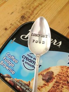 Comfort Food | Hand Stamped Spoon | by ForSuchATimeDesigns