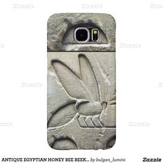 ANTIQUE EGYPTIAN HONEY BEE BEEKEEPER Black White Samsung Galaxy S6 Cases