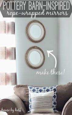 How to Make Rope Mirrors via housebyhoff.com