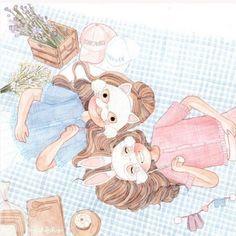 【设计】【泰國曼谷美女插畫家】Fahfahfahs為你畫出友情與愛情不同的甜度!
