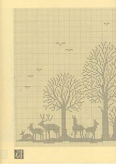 1 Szydełkomania: Lesny krajobraz
