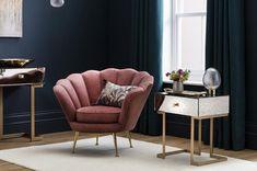 Brooke Velvet Sofa in Rust Orange – Sofa Design 2020 1930s House Interior, Sofa Design, Velvet Furniture, Cushions On Sofa, Orange Sofa Design, Living Room Orange, Living Room Style, Armchair, Velvet Armchair