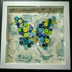 Button craft butterfly
