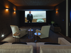 Imagine snuggling up to the latest film in your new home theater, perfect for a small gathering or a feature film release party. 1201 Laurel Way | Beverly Hills