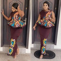 Are you warming up for a special occasion or want to look stunning on Ankara styles? then check Latest Ankara Skirt and Blouse Styles 2019 Ankara Skirt And Blouse, African Maxi Dresses, African Fashion Ankara, Latest African Fashion Dresses, African Print Fashion, African Attire, Ankara Gowns, African Wear, African Prints