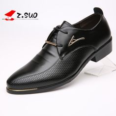 2017 New Brand Handsome Men Leather Flats Oxford Shoes Black Brown Men Wedding Shoes Pointed Toe Male Business Dress Shoes
