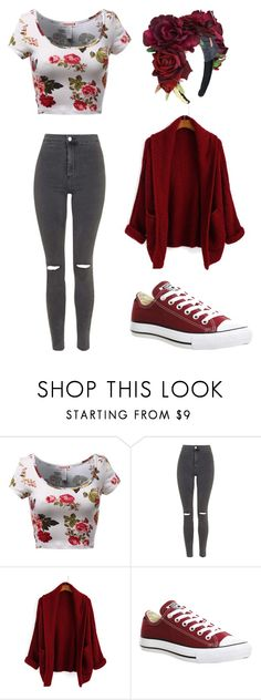 """"""".."""" by alma-mesic on Polyvore featuring Topshop, Converse, women's clothing, women's fashion, women, female, woman, misses and juniors"""