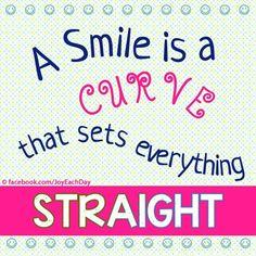 Smile quote via www.Facebook.com/JoyEachDay