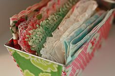 mod podge fabric or paper to old bread loaf pans