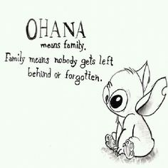 Ohana means family. Family means nobody gets left behind or forgotten. Lelo And Stich, Family Quotes, Life Quotes, Qoutes, Isaiah Bible, Disney Canvas Art, Love Your Family, Family Family, Friends Family