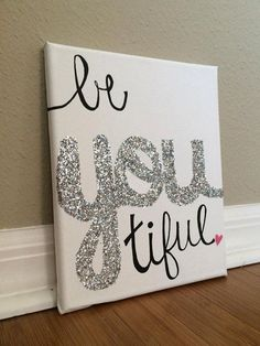 BeYOUtiful Handpainted CanvasGLITTER by ParadiseReefBoutique, $20.00