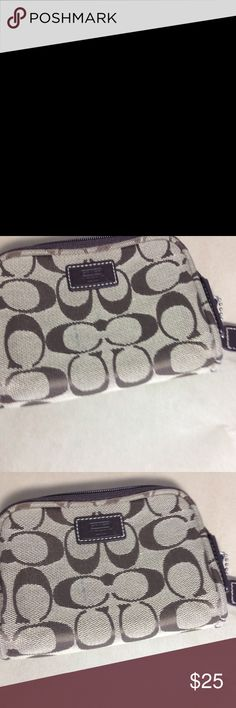 Coach Coin Purse Lot 2 Coach coin purses in used condition. The rectangle one has what appears to be a pen mark. The round one has wear on the inside and the zipper is not as smooth as it should be. Coach Bags Cosmetic Bags & Cases