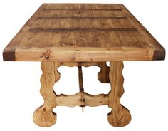 Rustic Pine Collection - Farmhouse Dining Table - MES116