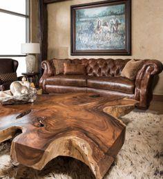 Beautiful Burl Wood Coffee Table -