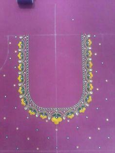 Cutwork Blouse Designs, Best Blouse Designs, Pattu Saree Blouse Designs, Embroidery Neck Designs, Simple Blouse Designs, Bridal Blouse Designs, Blouse Neck Designs, Mirror Work Blouse, Maggam Work Designs