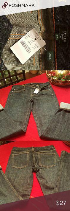 J CREW Matchstick jeans, new Ladies brand new J CREW Matchstick jeans, dark denim. 32 inch inseam . J. Crew Jeans