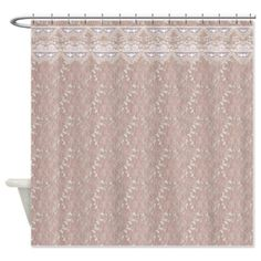 Lace On Lace Shower Curtain