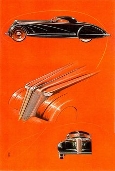 Alexis de Sakhnoffsky designs, _Esquire_, December 1934 (by aldenjewell, via Flickr)  Russian born emigrated to America where he designed many cars.
