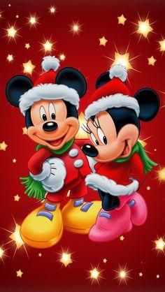 ミッキーとミニーのクリスマス iPhone壁紙 Wallpaper Backgrounds iPhone6/6S and Plus Mickey and Minnie Christmas
