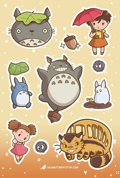 Totoro sticker sheet, coming late September 2018! Check out my sticker shop on Etsy for geeky cute stickers: juliahutshop.etsy.com #totoro #ghibli #studioghibli Korean Stickers, Anime Stickers, Kawaii Stickers, Cute Stickers, Kawaii Doodles, Cute Kawaii Drawings, Kawaii Art, Studio Ghibli Art, Studio Ghibli Movies