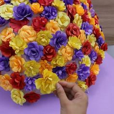 How to make paper flowers ❤️ Diy Paper Crafts diy christmas crafts with paper Diy Crafts For Kids Easy, Fun Diy Crafts, Diy Arts And Crafts, Easy Diy, Kids Crafts, Decor Crafts, Kids Diy, Paper Flowers For Kids, Diy Flowers