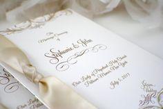 New to SDezigns on Etsy: Gorgeous Booklet Wedding Program (4.00 USD)