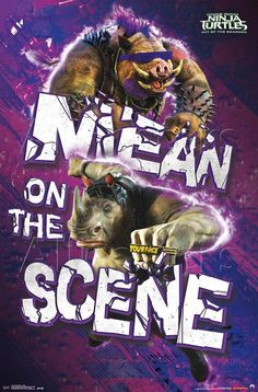 New TEENAGE MUTANT NINJA TURTLES: OUT OF THE SHADOWS Poster Features 'Bebop' & 'Rocksteady'