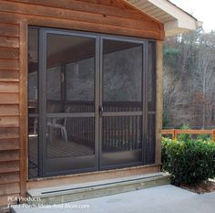 Double screen doors offer lots of versatility. From PorchIdeas.com #porch (apt double doors)