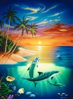 Dolphin Island via MuralsYourWay.com