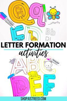 Alphabet Video, Alphabet Songs, Alphabet Tracing, Alphabet Worksheets, Alphabet Activities Kindergarten, Teaching The Alphabet, Letter Activities, Kindergarten Teachers, Alphabet For Toddlers