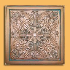"24""x24"" Astana Antique Copper Patina PVC 20mil Ceiling Tiles, Antique Ceilings- glue up ceiling tiles and drop in grid ceiling tiles- Antique Ceilings-"