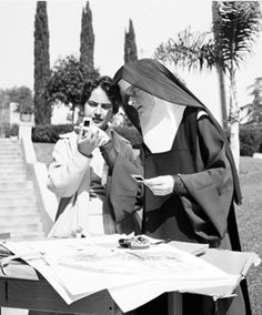 Corita Kent (1918-1986) with Student, ca. 1955, Immaculate Heart College, Courtesy of Corita Art Center, Los Angeles.