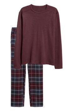 Pyjama - Bordeauxrood - HEREN | H&M NL 1