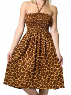 Alki'i Women's One-size-fits-all Tube Dress/Coverup with Animal Print  $19.99