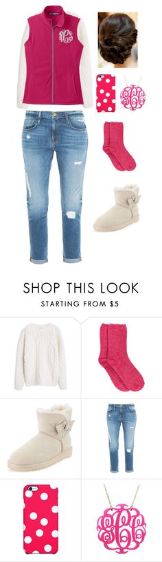 """""""pink(:"""" by emmaks9 ❤ liked on Polyvore featuring MANGO, Boohoo, UGG Australia, Frame Denim and Uncommon"""