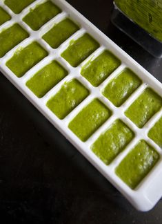 healthy smoothie tip...make spinach ice cubes before spinach goes bad...store in the freezer...pop one in your fruit smoothie for extra nutrition
