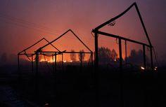 Remains of a burnt building sit amongst ashes outside the town of Vyksa, some 150 km (93 mi) southwest of the Volga city of Nizhny Novgorod on July 29, 2010. (REUTERS/Mikhail Voskresensky) #