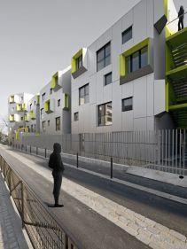 a9b2a623a8d8555d7e03004275699eb8 Co Housing, Social Housing, Architecture Design, Facade Design, Building Facade, Building Design, Decoration Facade, Revere Beach, Square Windows