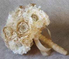 Ramo de novia vintage realizado