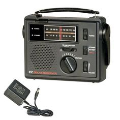 C Crane Co COBS CC Solar Observer Wind Up Radio with AM FM Weather and built in LED Flashlight and AC Adapter ** Check out the image by visiting the link.