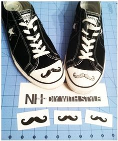 9. Give Them a Mustache | 30 DIY Ways To Jazz Up Your ConverseSneakers
