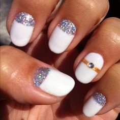 Nail designs ideas for women , modern nail art designs with stylish patterns . Cute nail art designs for girls , try these stylish nail art designs that you Nail Art Designs, White Nail Designs, Pretty Nail Designs, Wedding Day Nails, Wedding Nails Design, Wedding Ring, Cute Nails, Pretty Nails, Gel Nagel Design
